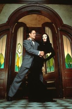 Gomez and Morticia Addams. Would be a great idea for couples Halloween costumes...