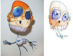 Kids Drawings made into stuffed toys. http://www.childsown.com/