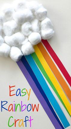 Rainbow craft for Spring #springcraftsforkids