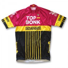 """Official technical race jersey of Belgian cycling team Top-Bonk / Schleppers, as worn by cycling legend Kenny Van Vlaminck. """"Now incredibly…"""