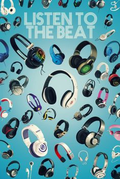 Listen to the Beat Poster Dorm Room Posters, Poster Wall, Poster Prints, Frames For Canvas Paintings, Popular Art, Affordable Wall Art, Cool Posters, Concert Posters, Custom Framing