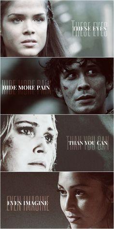 Pain. // The 100 // Bellamy Blake // Octavia Blake // Clarke Griffin // Raven Reyes