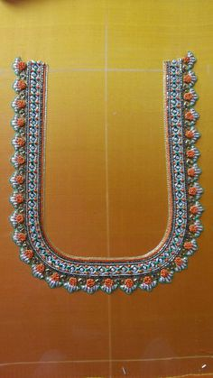 New Embroidery Blouse Designs Hand Simple Ideas Hand Work Design, Hand Work Blouse Design, Simple Blouse Designs, Sari Blouse Designs, Choli Designs, Blouse Patterns, Simple Designs, Border Embroidery Designs, Hand Work Embroidery
