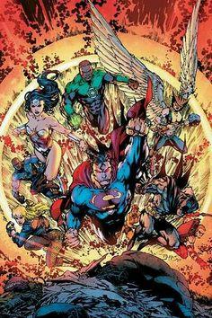 Justice League of America by Ed Benes (DC comics) Dc Comics Heroes, Arte Dc Comics, Dc Comics Characters, Comic Book Heroes, Comic Books Art, Book Art, Jim Lee Art, Supergirl, Justice League Dark