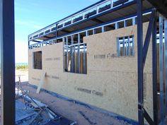 Steel Frame House, Steel Frame Construction, Metal Buildings, Prefab Homes, Zen, Galvanized Steel, Steel Frame, Prefab Houses, Home Plans