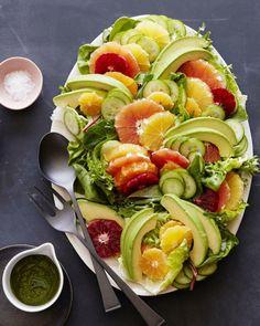 avocado zitrus salat lecker essen