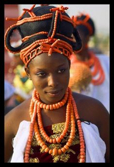 Burkina bride influenced by Edo culture of the Benin people in Nigeria