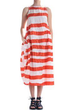 DANIELA GREGIS - Stripes Dress In Light Silk Taffeta