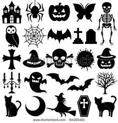 Halloween by nAncita Moldes Halloween, Halloween Templates, Manualidades Halloween, Adornos Halloween, Halloween Icons, Halloween Projects, Holidays Halloween, Halloween Crafts, Happy Halloween