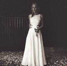 Mara Hoffman wedding dress with cutouts done right.