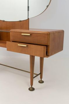 Rare Mid-Century Modern Vanity or Dressing Table by A. Patijn for Zijlstra 3 Mid Century Modern Vanity, Vanity For Sale, Dressing Table, Sideboard, Mid-century Modern, The Originals, Furniture, Vintage, Design