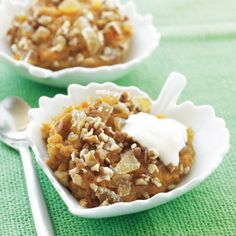 Sweet Potato Pudding: Since #sweetpotatoes are so naturally sweet, this #recipe slashes the sugar. Speed prep time by using the sweet potato you batch-cooked earlier in the week. #dessert | Health.com