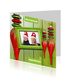 Kerstkaart / Nieuwjaarskaart eigen foto, Ontwerp OTTI & Lorie Davison, verkrijgbaar bij Wensplein.nl