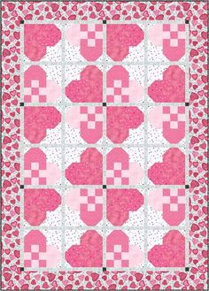Quilt Inspiration: Free pattern day: Hearts and Valentines part 3