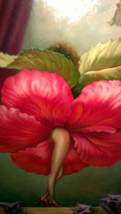 Hibiscus Dancer: Paragon Fine Art - Vladimir Kush                                                                                                                                                     More