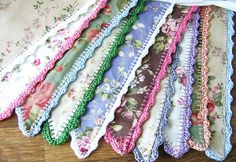 bunting with crochet edging