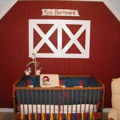 Cute Barnyard Nursery Idea, Joey would really love this one.