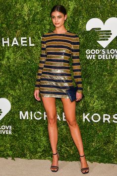 Taylor Hill showed - the God's Love We Deliver Golden Heart Awards in New York.