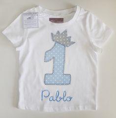 cocodrilova: camiseta cumpleaños 1 año #camisetacumpleaños #camiseta #cumpleaños #1año #hechoamano camiseta-cumpleaños-1año