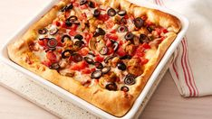 Chicago-style deep dish pizza ready in just 45 minutes?  Yes, thanks to refrigerated pizza crust and simple, traditional toppings.