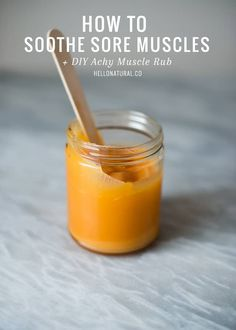 6 Natural Ways to Soothe Sore Muscles + DIY Muscle Rub  3c4474123