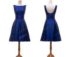 vintage bridesmaid dress royal blue bridesmaid by sofitdress, $99.00