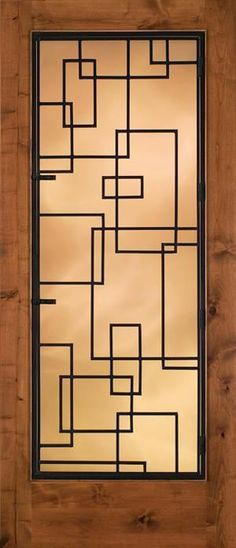 Stained Glass Door Designs With Art Deco Style -