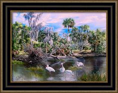 Hillsborough River Framed Print featuring the painting Hillsborough River- Lunch Time by Daniel Butler