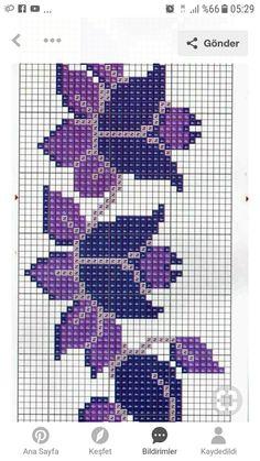 Filet Crochet, Crochet Stitches, Knit Patterns, Cross Stitch Embroidery, Needlepoint, Smurfs, Needlework, Diy And Crafts, Tapestry