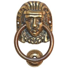Egyptian Pharaoh Door Knocker ($125) ❤ liked on Polyvore featuring home, home decor, decorative hardware, door knockers, egyptian home decor, brass door knocker, mounting plate, brass plate and brass home decor