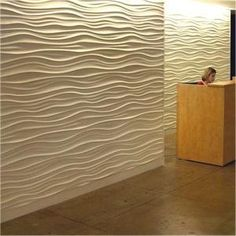 Love this wall treatment!