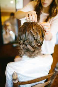 #hairstyles  Photography: Michelle Lyerly - www.michellelyerly.com  Read More: http://www.stylemepretty.com/2014/05/22/pastel-spring-wedding-in-chapel-hill/