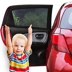 Lictin Car Window Shade (2 Pack) - Car Sun Shade for Baby with UV Protection for Your Kids, Dog - Without Clings or Suction Cups - Fits Most Cars