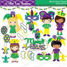 Mardi Gras Clipart Mardi Gras Clip Art Mask by CeliaLauDesigns