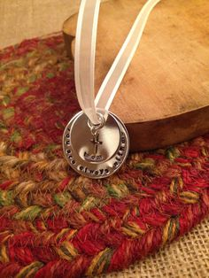 Memorial Bridal Bouquet Charm, Hand Stamped Wedding Charm, Memorial Charm, Remembrance Charm, Wedding Memorial Charm, Wedding Charm, $24