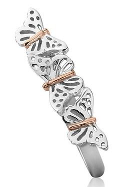 Clogau Ring Butterfly Stacking Silver | C W Sellors Fine Jewellery and Luxury Watches