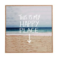 Leah Flores Happy Place X Beach Framed Wall Art | DENY Designs Home Accessories
