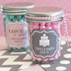 Mini Mason Jars DYI Wedding Supply and Favors by MyLoveWeddings, $55.20