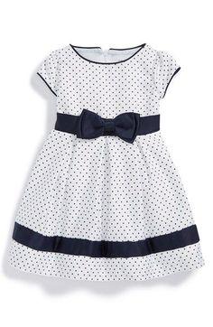 Dorissa Short Sleeve Pin Dot Dress (Baby Girls) available at Toddler Dress, Baby Dress, Toddler Girl, Baby Girls, Little Dresses, Little Girl Dresses, Girls Dresses, Little Girl Fashion, Kids Fashion