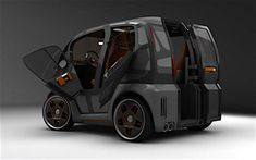 Answer to the 'Smart' from Russia or city car of the future. Small Electric Cars, Electric Bike Kits, Electric Tricycle, Smart Fortwo, New Land Rover Defender, Microcar, Retro Bike, Future Car, Cars Of The Future