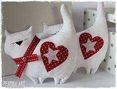 Peninia arte ...: Gatos y corazones