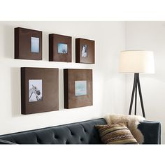 Manhattan Modern Box Frames in Patina - Modern Picture Frames - Modern Entryway Furniture - Room & Board