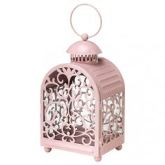Set a soft, romantic mood with this delicate candle lantern.