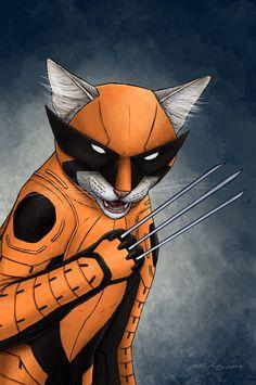 super-herois-fossem-gatos-wolverine