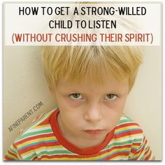 Strong-Willed Child - How to get them to listen without breaking their spirit. (Scroll down quite a bit to get to the tips) Parenting Strong Willed Child, Step Parenting, Peaceful Parenting, Parenting Toddlers, Parenting Books, Gentle Parenting, Parenting Advice, Child Development Psychology, Love And Logic