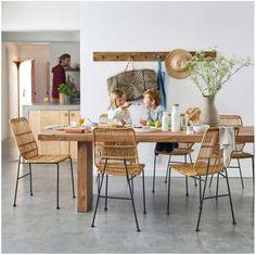 bedb55920ad8f8 Collection AH 17 Catalogue La Redoute Intérieurs, country craft, place au  naturel pour la décoration d intérieur automne   hiver - chaise en rotin -  table ...