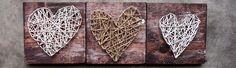 String & Nail Hearts by THREE & ME