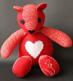 Personalized Teddy Bear African ShweShwe Print fabric with Heart with hand embroidery and beading Personalized bespoke custom made. Great Valentines Day Gifts, Valentine Box, Personalised Teddy Bears, Hand Embroidery, Printing On Fabric, Etsy Seller, Christmas Ornaments, Handmade Gifts, Shark Tank