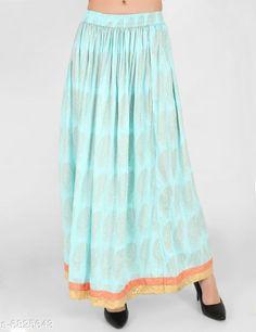 Skirts Trendy Women's Skirts   Fabric: Cotton Pattern: Printed Multipack: 1 Sizes:  Free Size (Waist Size: S-28 in Length Size: 44 in)  (M-30 in Length: 44 in) (L- 32 in Length: 44 in) (XL- 34 in Length: 44 in) (XXL- 36 in Length: 44 in) Country of Origin: India Sizes Available: 28, 30, 32, 34, 36   Catalog Rating: ★4 (251)  Catalog Name: Stylish Glamorous Women Skirts CatalogID_1089388 C79-SC1040 Code: 023-6825643-957