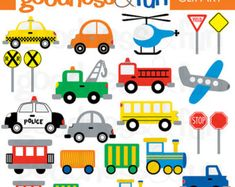 80% OFF SALE Cute Transportation Clip Art Car by pointandpoem                                                                                                                                                                                 Mais